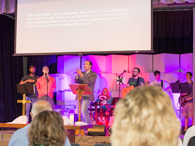 Members of the Haymarket Church worship band.