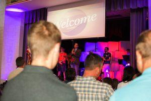 Worship at Haymarket Church.