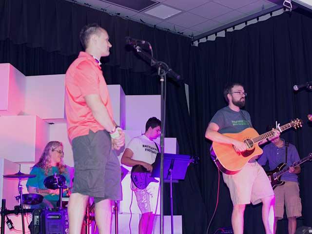 Members of the Haymarket Church Worship Band.