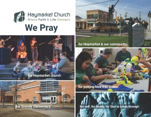 We Pray- Haymarket Church Prayer Card
