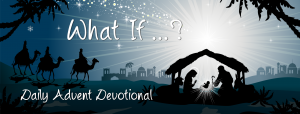 manger scene with advent devotional words
