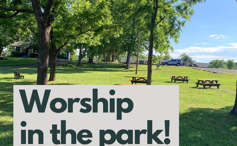 August Worship at Haymarket Town Park