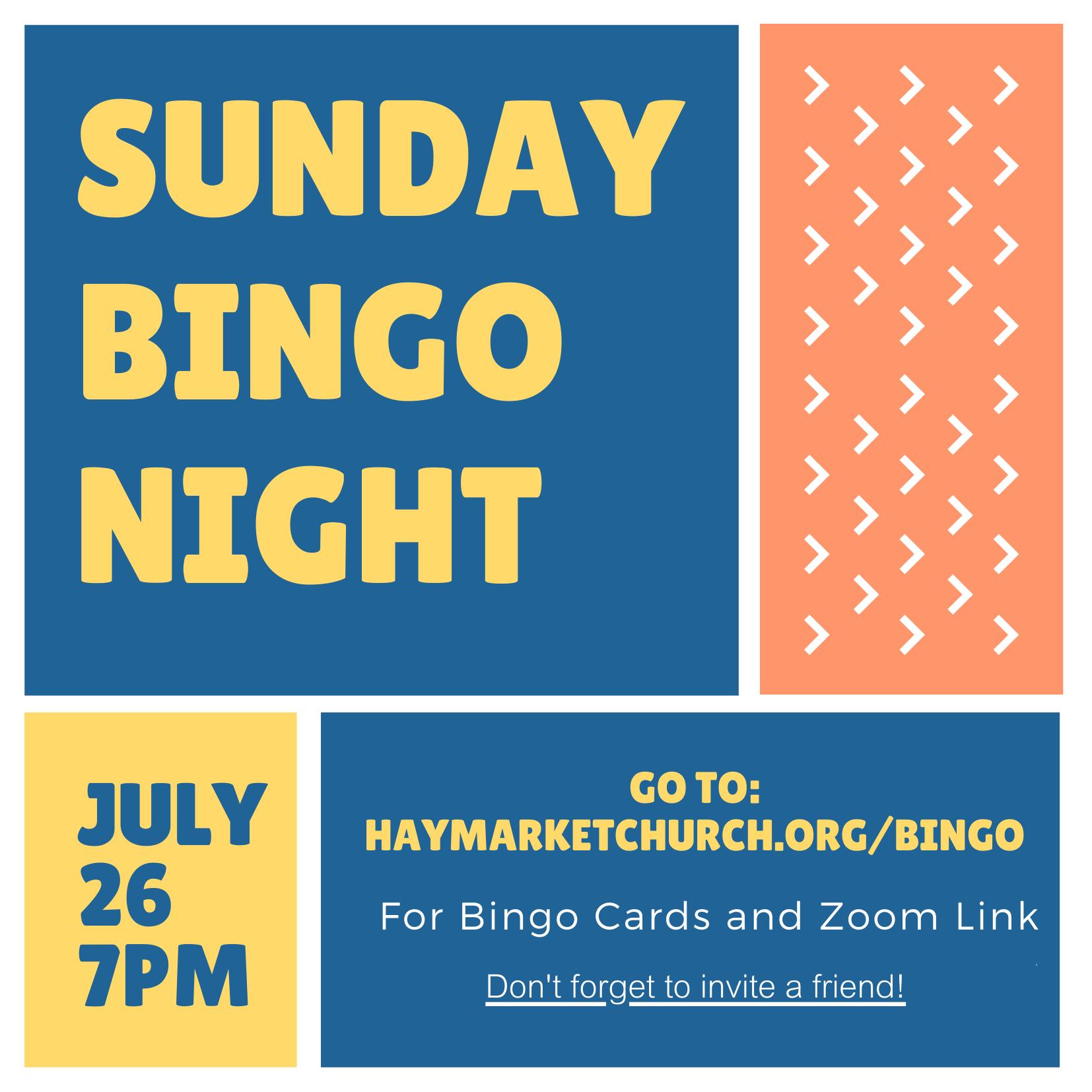 Bingo Night Invitation