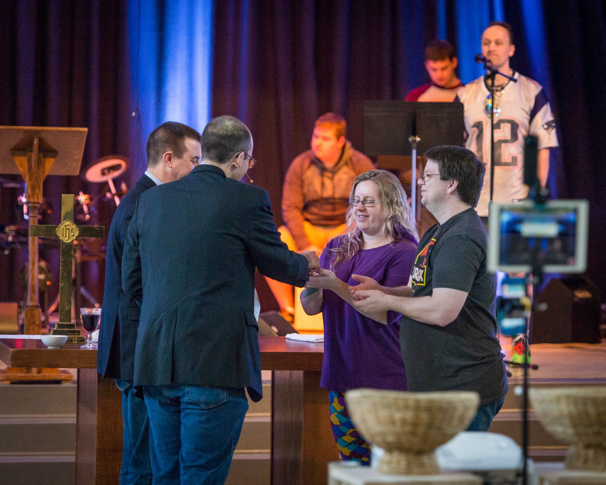 communion being served at worship