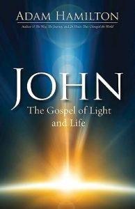 Book Cover- John the Gospel of Light and Life-- light shining on blue