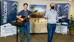 worship leaders wearing masks