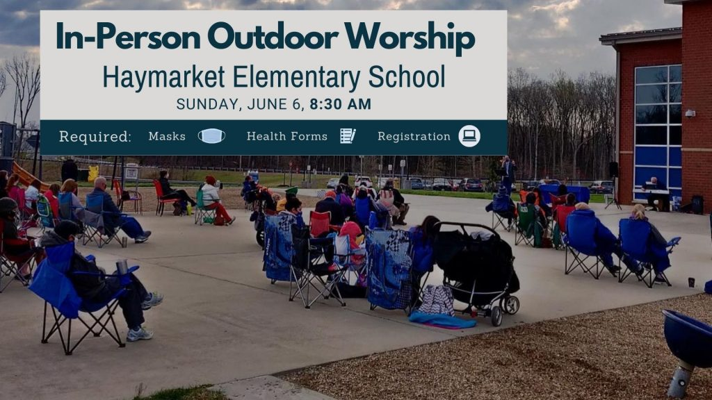 Outdoor Worship at Haymarket Elementary