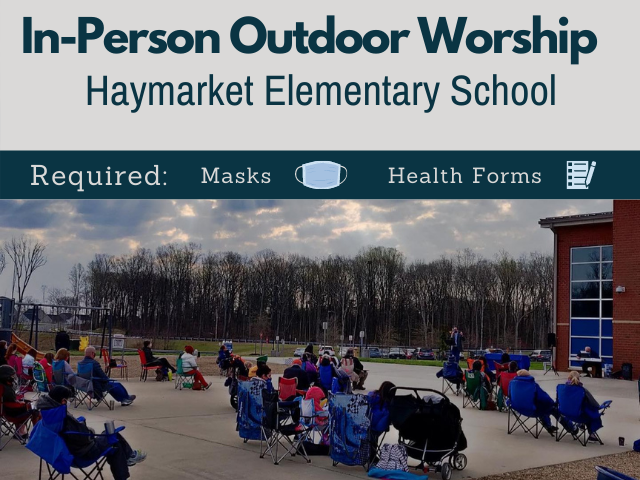 people worshiping on playground